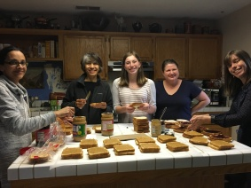 Making sandwiches for Mustard Seed School